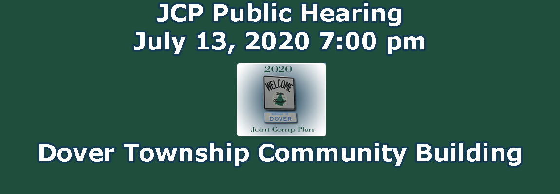 Notice of Comprehensive Plan Public Hearing & Adoption Consideration